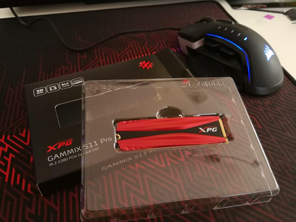 XPG Gammix S11 Pro ausgepackt