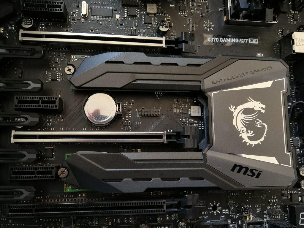 MSI X370 Gaming M7 ACK M.2 Kühlkörper